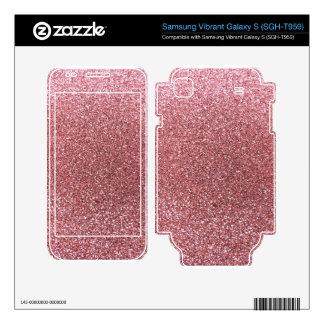 Light pink glitter samsung vibrant skins