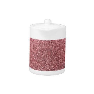 Light pink glitter teapot