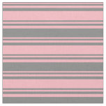 [ Thumbnail: Light Pink & Gray Stripes Fabric ]