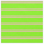 [ Thumbnail: Light Pink & Green Colored Lined/Striped Pattern Fabric ]