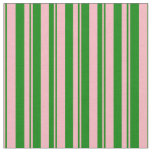 [ Thumbnail: Light Pink & Green Colored Stripes/Lines Pattern Fabric ]