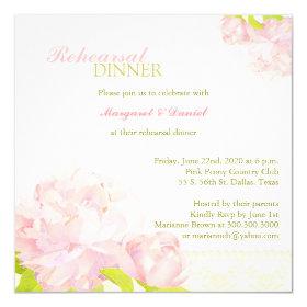 Light Pink   Green Wedding Rehearsal Dinner Invite 5.25