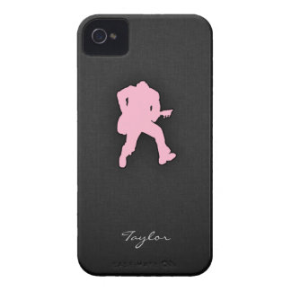 Light Pink Guitar Player iPhone 4 Cases