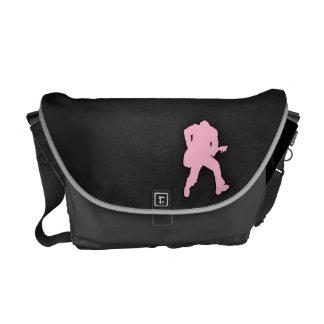 Light Pink Guitar Player Messenger Bag