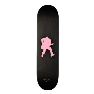 Light Pink Guitar Player Skateboard Deck