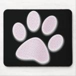 Light Pink Halftone Paw Print Mouse Pad