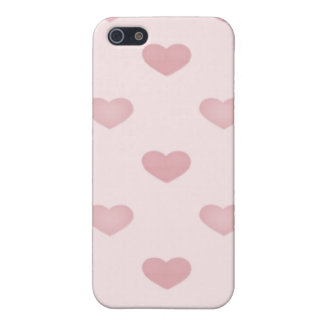 Light Pink Hearts iPhone 4/4S Case