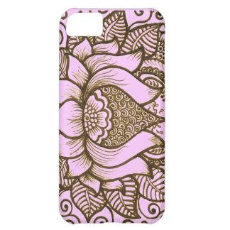 light pink henna design iPhone 5C covers