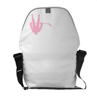 Light Pink Hockey Messenger Bag