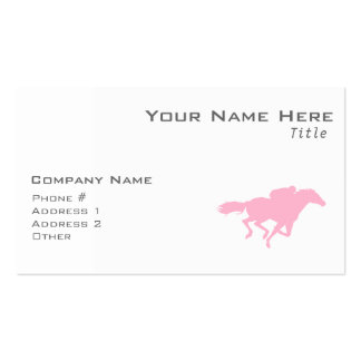 Light Pink Horse Racing Double-Sided Standard Business Cards (Pack Of 100)