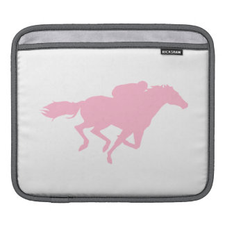 Light Pink Horse Racing Sleeve For iPads