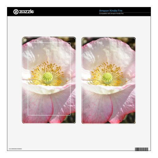 Light Pink Iceland Poppy Flower Decals For Kindle Fire
