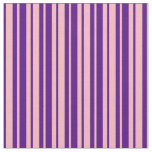 [ Thumbnail: Light Pink & Indigo Stripes/Lines Pattern Fabric ]