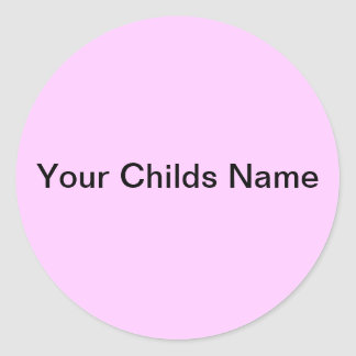 Light Pink Kids Name Sticker Personalized Custom
