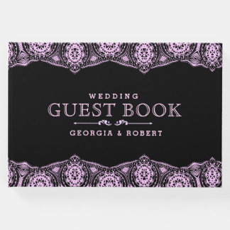 Light Pink Lace Wedding Guest Book