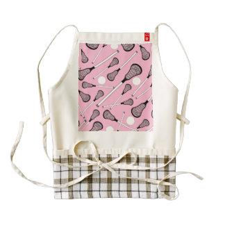 Light pink lacrosse sticks zazzle HEART apron