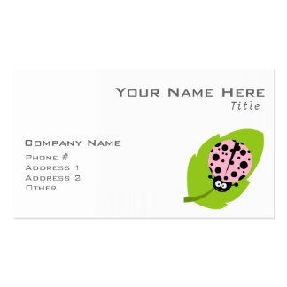 Light Pink Ladybug Double-Sided Standard Business Cards (Pack Of 100)