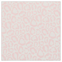 Light Pink Leopard Animal Print Fabric