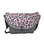 Light Pink Leopard Messenger Bag
