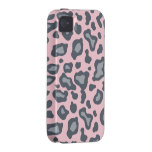 Light Pink Leopard Print  iPhone 4 Case-Mate