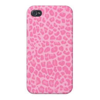 light pink leopard print pattern case for iPhone 4