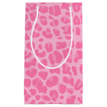 Light pink leopard print pattern small gift bag