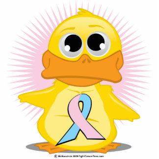 Light Pink & Light Blue Ribbon Duck Cutout