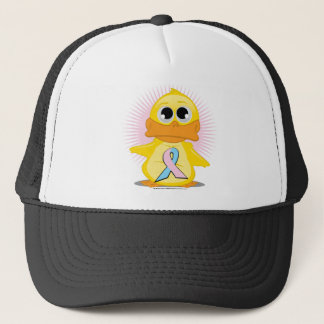 Light Pink & Light Blue Ribbon Duck Trucker Hat