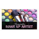Light Pink Make Up Artist Palette Business Card