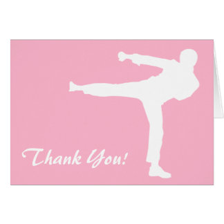 Light Pink Martial Arts Card