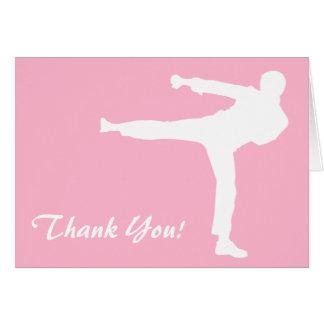 Light Pink Martial Arts Card