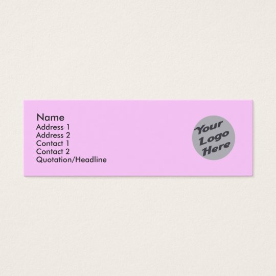 Light Pink Mini Business Card