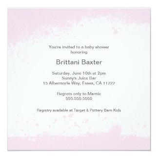 Light Pink Modern Grunge Baby Shower Invite