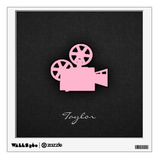 Light Pink Movie Camera Wall Decal