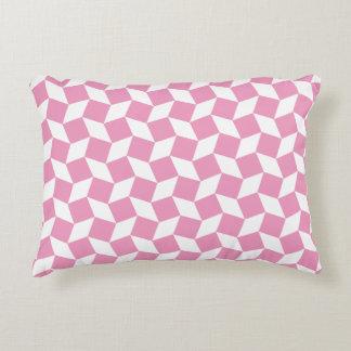 Light Pink Op Art Pattern Accent Pillow