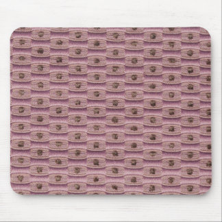 Light pink oval shapes and pink strings mouse pad