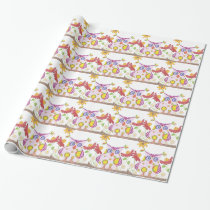 Light pink owl wrapping paper