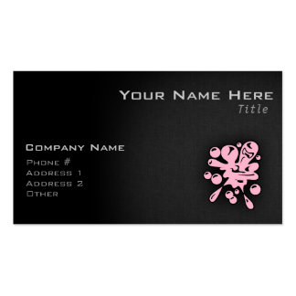 Light Pink Paintball Splatter Double-Sided Standard Business Cards (Pack Of 100)