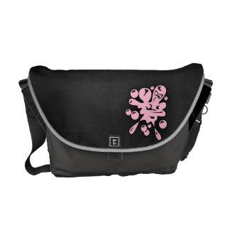 Light Pink Paintball Splatter Messenger Bag