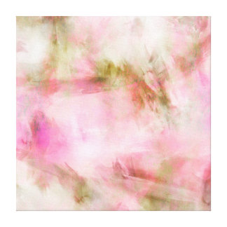 Light Pink Pastel Watercolor Background Canvas Print