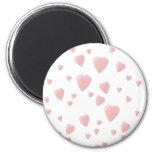 Light Pink Pattern of Love Hearts. Fridge Magnets