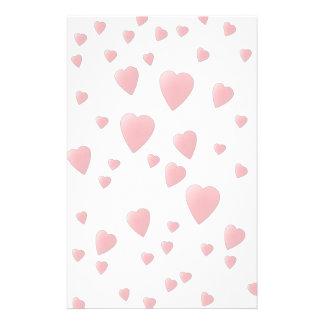 Light Pink Pattern of Love Hearts. Stationery
