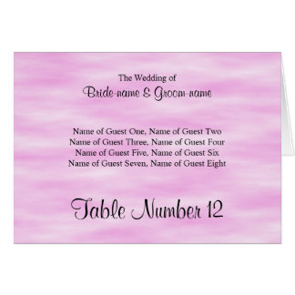Light Pink Pattern Wedding Place Cards Design.