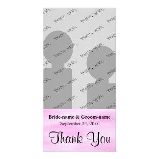 Light Pink Pattern Wedding Thank You Design. Card