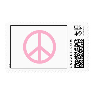 Light Pink Peace Sign Stamp