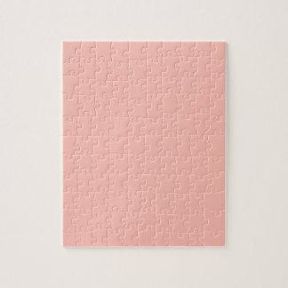 Light Pink Peach Baby Pink Pastel Girly Stuff Puzzle