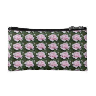 Light Pink Peony Blooming Bag Makeup Bags