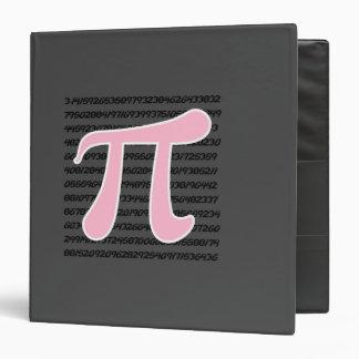Light Pink Pi Symbol 3 Ring Binder