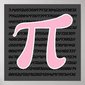 Light Pink Pi Symbol Print