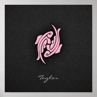 Light Pink Pisces Poster